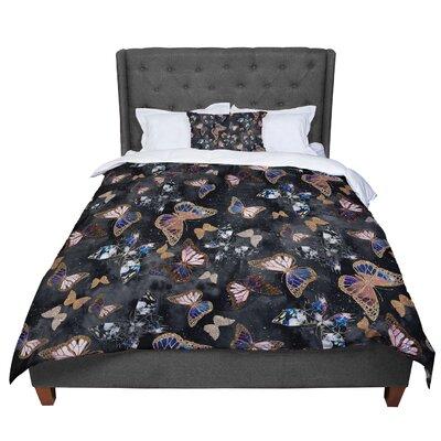 Nikki Strange Galactic Butterfly Comforter Size: Twin