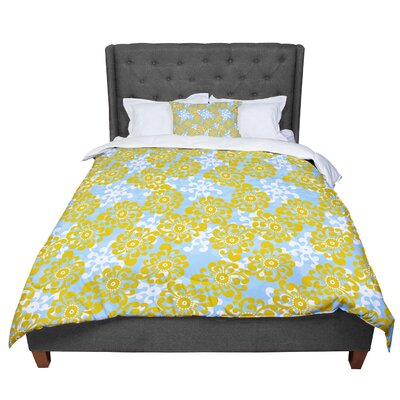 Nandita Singh Flowers Alternate Floral Comforter Size: Twin
