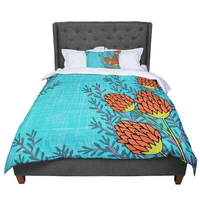 Nandita Singh Flowers Comforter Size: King
