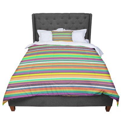 Nandita Singh Pattern Play Stripes Comforter Size: Twin