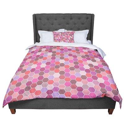 Nandita Singh Blush Tiled Comforter Size: Queen