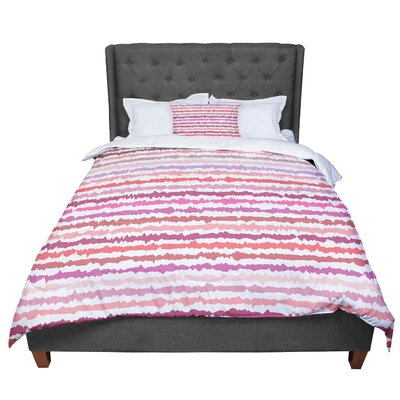 Nandita Singh Blush Stripes Comforter Size: Queen