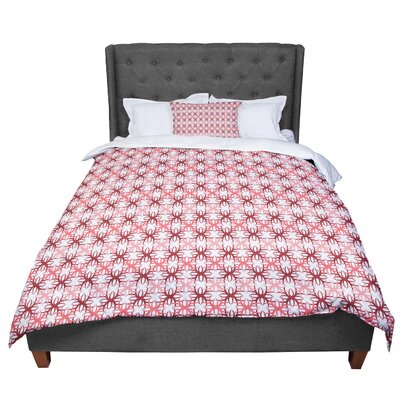 Nandita Singh Motifs Geometric Comforter Size: Queen, Color: Pink/Red