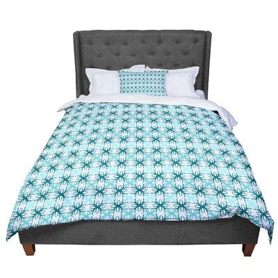 Nandita Singh Motifs Geometric Comforter Size: Twin, Color: Blue/AQua