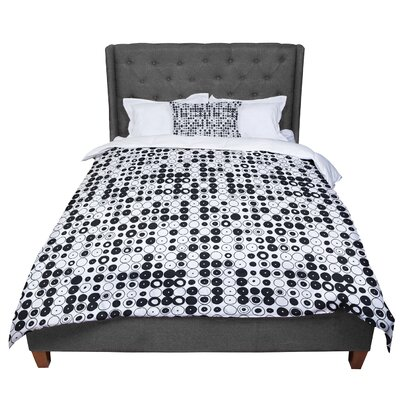 Nandita Singh Funny Polka Dots Abstract Comforter Size: Queen, Color: White