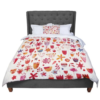 Nic Squirrell Spring Flowers Comforter Size: King