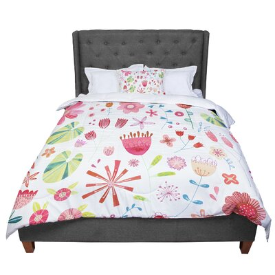 Nic Squirrell Pressed Wildflowers Comforter Size: King, Color: Olive