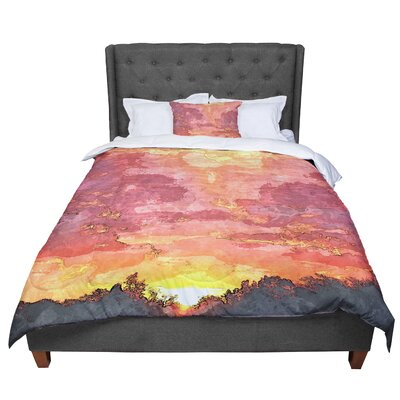 Oriana Cordero Horizon Sky Comforter Size: King