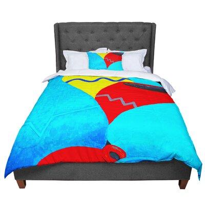 Oriana Cordero Terracotta Comforter Size: King
