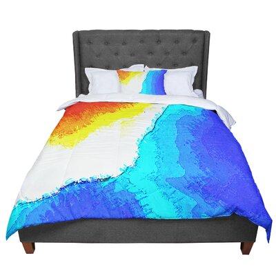Oriana Cordero Amalfi Coast Comforter Size: Queen