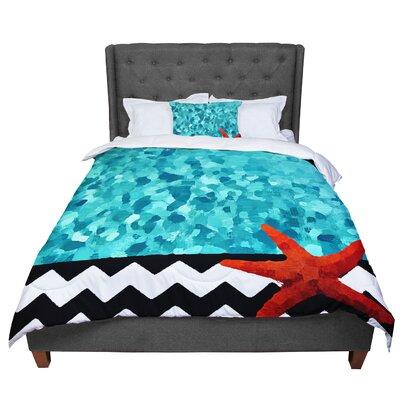 Oriana Cordero Ocean Comforter Size: Queen