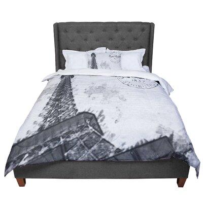 Oriana Cordero Bonjour Mon Amour Eiffel Comforter Size: Twin