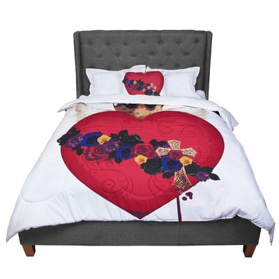 Oriana Cordero Sac Heart for Frida Comforter Size: King