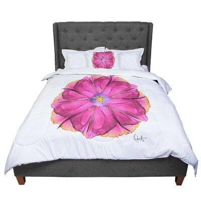 Oriana Cordero Athena-Flower Lavender Comforter Size: Queen