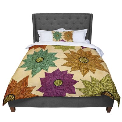 Pom Graphic Design Color Me Floral Comforter Size: Queen