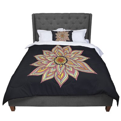Pom Graphic Design Incandescent Flower Comforter Size: King