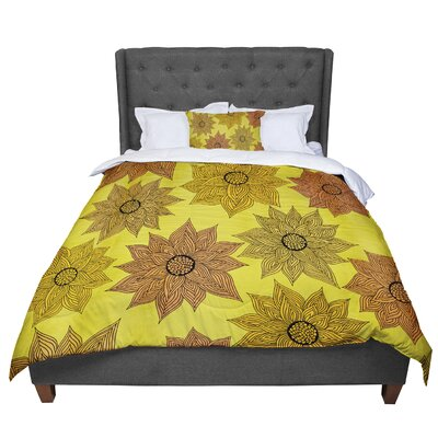 Pom Graphic Design Its Raining Flowers Comforter Size: King