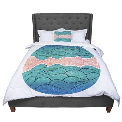 Pom Graphic Design Ocean Flow Comforter Size: Twin