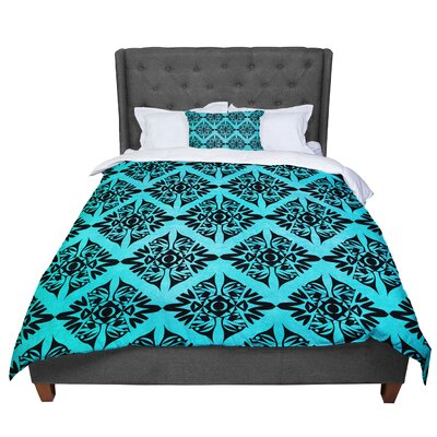 Pom Graphic Design Eye Symmetry Comforter Size: King
