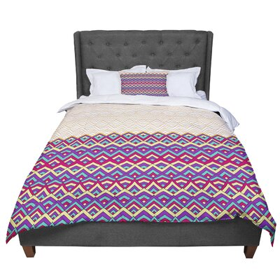 Pom Graphic Design Horizons Comforter Size: Twin, Color: Purple/Yellow