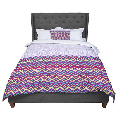Pom Graphic Design Horizons Comforter Size: Queen, Color: Purple