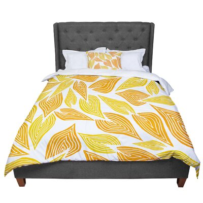 Pom Graphic Design Autumn II Comforter Size: Twin, Color: Yellow/White