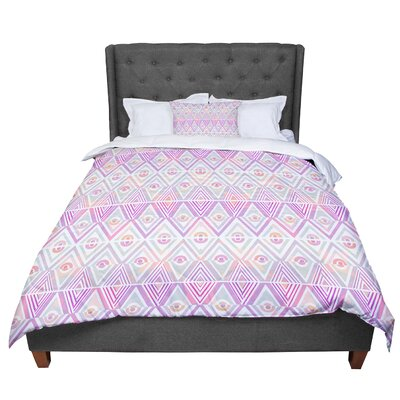 Pom Graphic Design Soft Petal Tribal Comforter Size: Queen