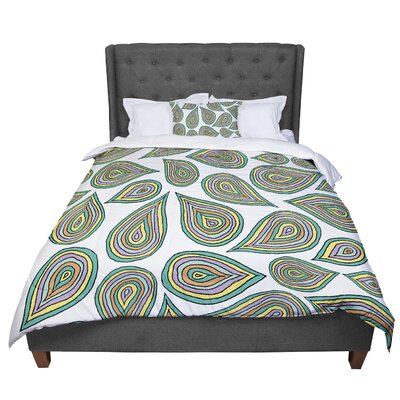 Pom Graphic Design Its Raining Leaves Comforter Size: King