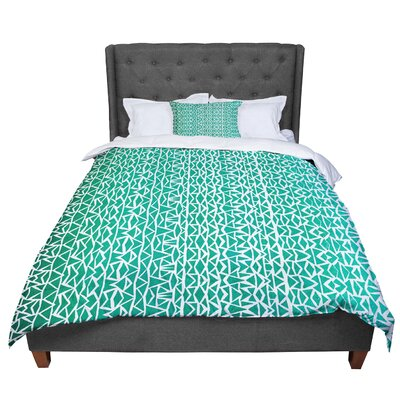 Pom Graphic Design Tribal Forrest Comforter Size: Queen