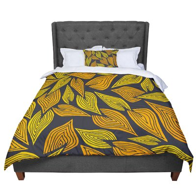 Pom Graphic Design Autumn II Comforter Size: Queen, Color: Yellow/Black