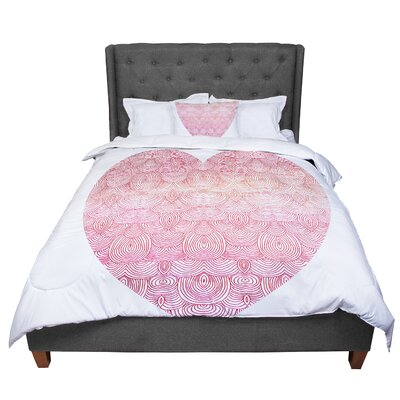 Pom Graphic Design Love Comforter Size: Queen
