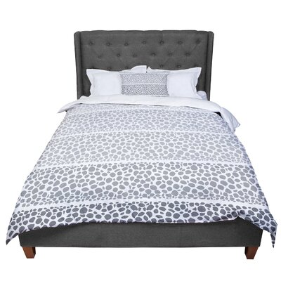 Pom Graphic Design Riverside Pebbles Colored Comforter Size: Twin, Color: Gray/White