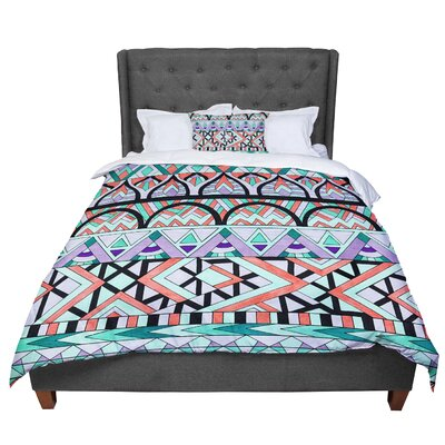 Pom Graphic Design Tribal Invasion Abstract Comforter Size: Queen