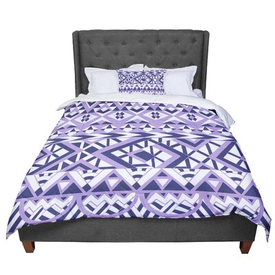 Pom Graphic Design Tribal Simplicity II Comforter Size: King, Color: Purple