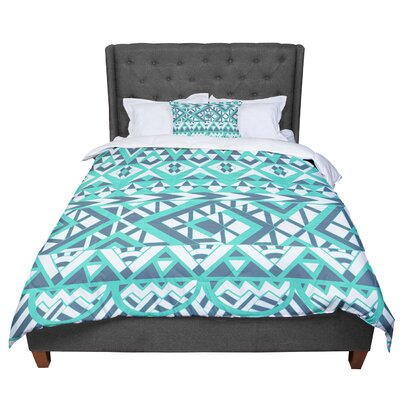 Pom Graphic Design Tribal Simplicity II Comforter Size: Twin, Color: Teal