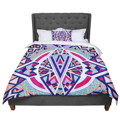 Pom Graphic Design Abstract Journey Circular Tribal Comforter Size: Twin