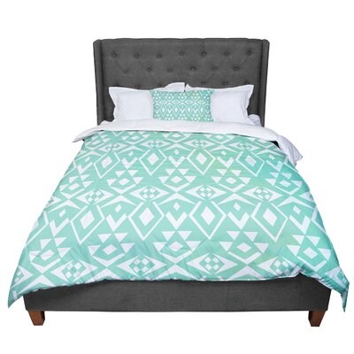 Pom Graphic Design Ancient Tribe Seafoam Comforter Size: Queen