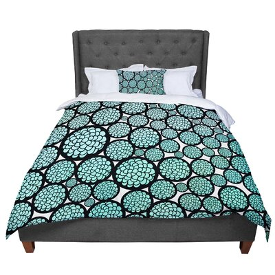 Pom Graphic Design Blooming Trees Circles Comforter Size: Twin