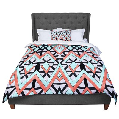 Pom Graphic Design Geometric Mountains Comforter Size: Queen