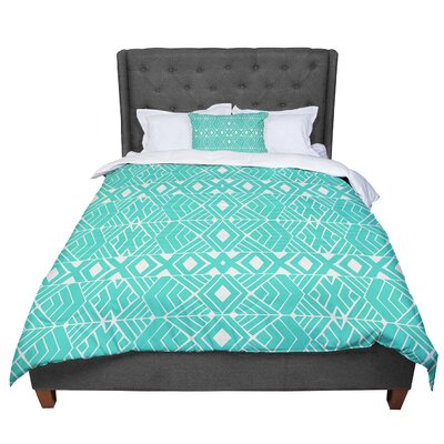 Pom Graphic Design Going Native Comforter Size: King, Color: Teal