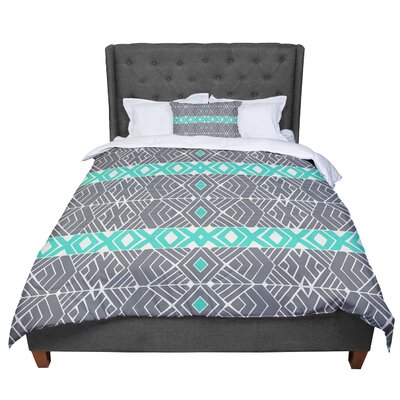 Pom Graphic Design Going Native Comforter Size: King, Color: Gray/Green