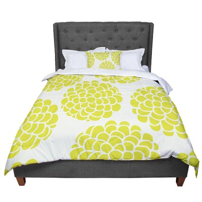 Pom Graphic Design Grape Blossoms Circles Comforter Size: King