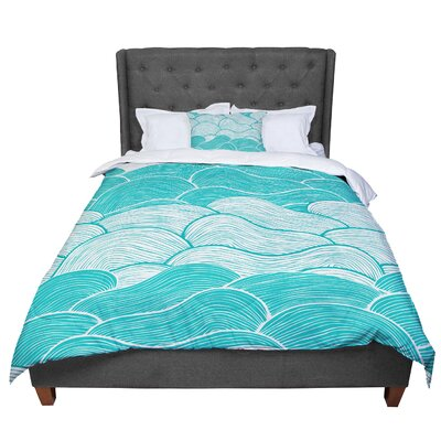 Pom Graphic Design The Calm and Stormy Seas Comforter Size: Queen