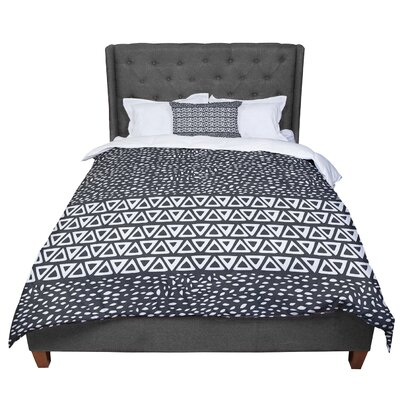 Pom Graphic Design Wind Day Comforter Size: Queen, Color: Black/White