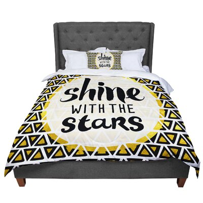Pom Graphic Design Shine with the Stars Comforter Size: King