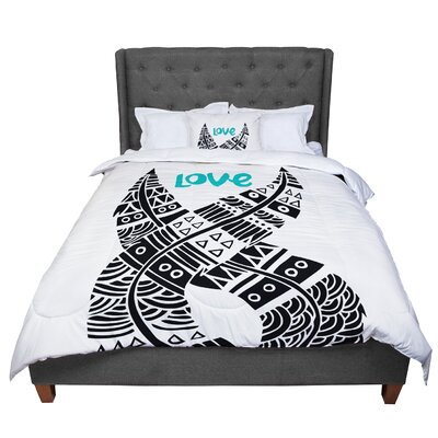 Pom Graphic Design United Love Tribal Comforter Size: Queen