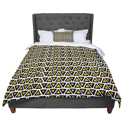 Pom Graphic Design Aztec Triangles Comforter Size: Queen