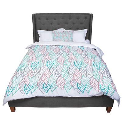 Pom Graphic Design Ethnic Leaves Comforter Size: King