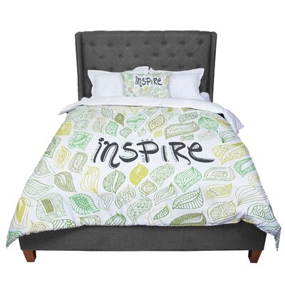 Pom Graphic Design Inspire Nature Comforter Size: Queen