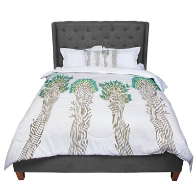 Pom Graphic Design Amazon Trees Comforter Size: King